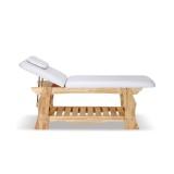 Massage Spabänk Olga - Träbädd med 2 sektioner