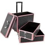 Arbetsväska Crystal Glamblack rosa med Hjul