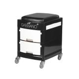 Helper & Stol med lådor i svart/vit