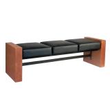 Soffa för Väntrum i svart brun