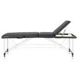 Bärbar Massagesäng COMFORT med bärväska i svart