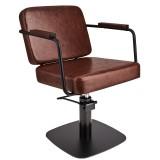 Kundstol ENZO brun med svart base Made in Europe