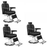 Paketpris 3 x Barber Chair TOMMY i svart
