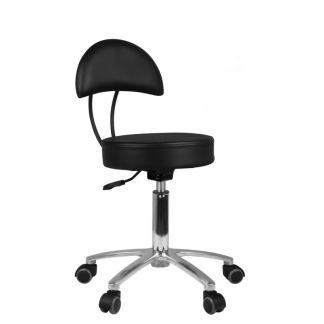 Arbetsstol COSMIC i svart, höjden 48-60cm - Arbetsstol COSMIC i svart