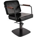 Kundstol ENZO svart med svart base Made in Europe