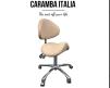 Arbetsstol Caramba Italia beige/vit/svart/grön/rosa/röt/blå