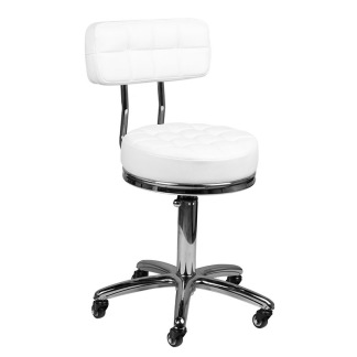 Arbetsstol RIFFEL i vitt höjden: 42- 53cm - Arbetsstol RIFFEL i vitt höjden: 42- 53cm