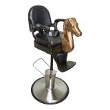 Mini BarberChair Golden Horse Barnklippstol