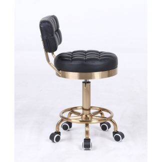 Arbetsstol RIFFEL II i svart/vit/grå  gyllene höjden: 38- 56cm - Arbetsstol RIFFEL II SVART/GULD