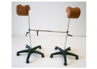 1 par rörliga benhållare för gynstol, gynekologi Made in Spain - 1 par rörliga benhållare för gynstol, gynekologi Made in Spain