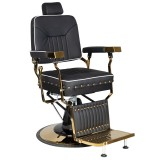 Barber Chair COLT gold med nitar Höjd: 56-70cm