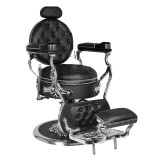 Barber Chair CESAR svart/silver