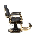 Barber Chair COLORADO i svart/guld