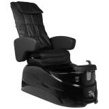 FotSPA pedikyrstol DIRA med massagefunktioner & LED helt svart med dräneringspump