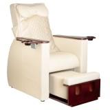 FotSpa fotvårdstol RINO-cream fotbad och benstöd & ryggmassagefunktion