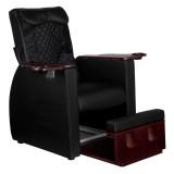 FotSpa fotvårdstol RINO-svart med utdragbar botten för fotbad och benstöd & ryggmassagefunktion