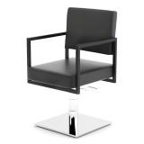 Frisörstol Barber Chair CRUDO II i svart Made in Europe SNABB