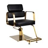 Frisorstol Kundstol med gyllene bas Höjd: 36 - 55cm