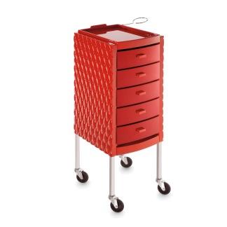 Arbetsbord Rullbord DECORI röd Made in ITALY - Arbetsbord Rullbord DECORI röd Made in ITALY