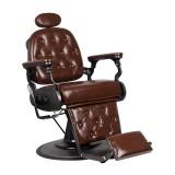 Barberarstol LOFT i brun satinfinish