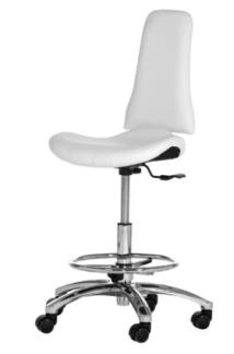 Arbeitshocker XI med Fotring i vit & svart Made in Germany - Arbeitshocker XI med Fotring i vit