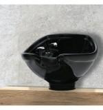 Keramiskt handfat de Luxe svart för montering på en bordsskiva Made in Europe