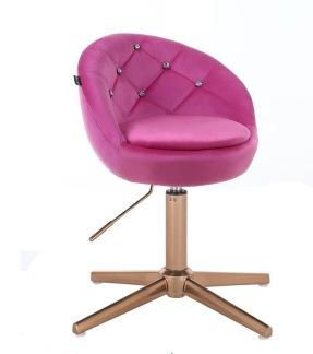 Arbetsstol BAMB med Stenar gyllene bas velour i rosa 42 - 55 cm - Arbetsstol BAMB med Stenar gyllene bas velour i rosa 42 - 55 cm