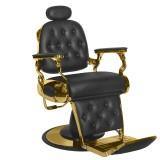 Barber Chair FRANCO svart med gyllene base