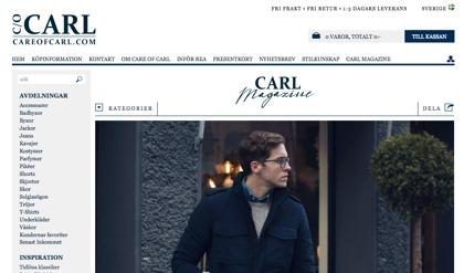 Care of Carl säljer herrkläder på nätet. I sitt magazine ger de bland annat säsongstips till sina kunder.