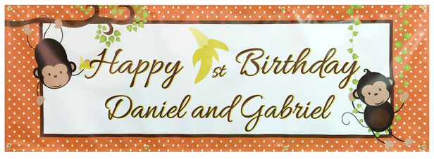 Full Color Birthday Banner