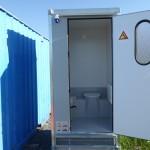 Isolerad toalett