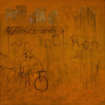 Akryl, 90 x 90 cm