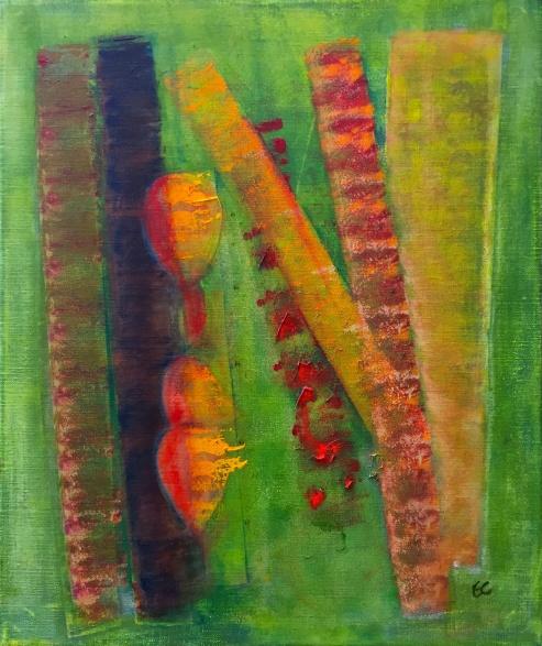 Akryl på duk, 60x50 cm