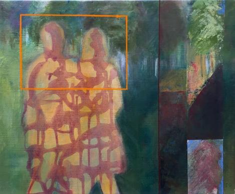 Akryl på duk, 40x50 cm