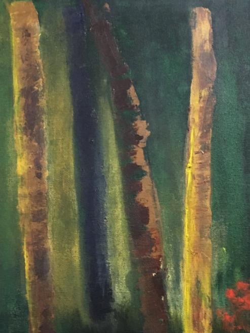 Akryl på duk, 30 x 20 cm
