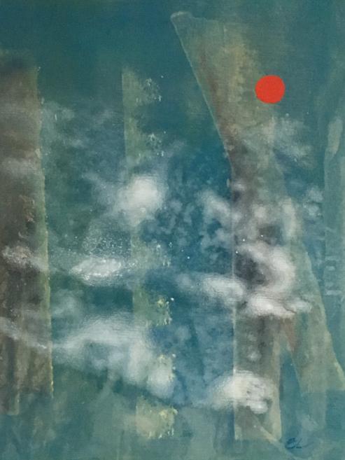 Akryl på duk, 60 x 50 cm