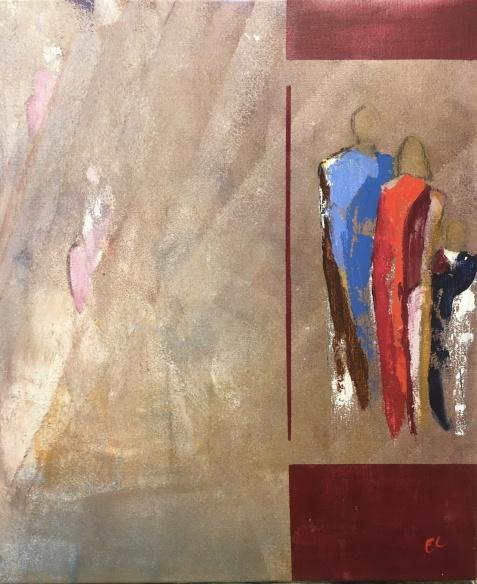 Akryl på duk, 50x60 cm