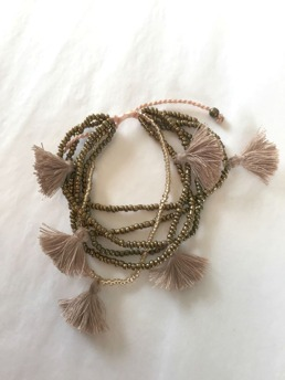 Armband med tofsar - Multi