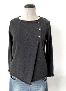 Cashmere Cardigan Charcoal