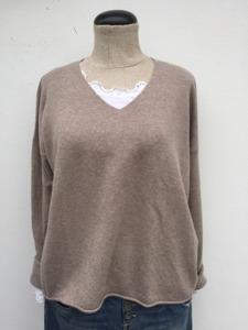 Cashmere V-hals tröja
