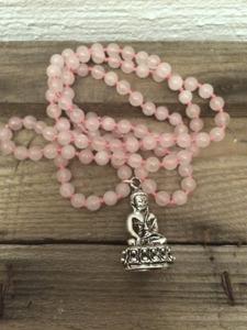 Buddha halsband rosenkvarts