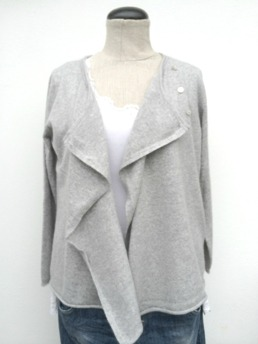 Cashmere Cardigan L. Grey - S