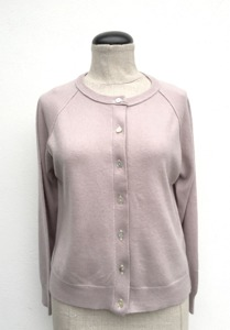 Cardigan i Cashmere Dusty Pink