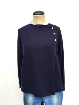 Cashmere Cardigan Navy - S