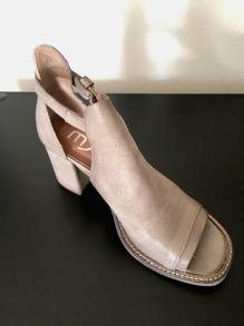 Skinn sandal - 39