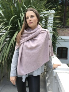 Cashmere Poncho Dusty Pink