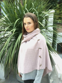 Cashmere Poncho Dusty Pink - Dusty Pink