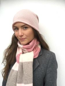Cashmere Mössa,Soft Pink