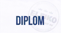 Diplom Eleiko Powerlifting level 1