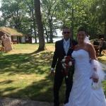 Bröllopsbilder i parken